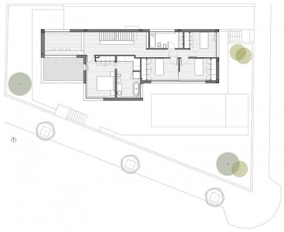 Plano de casa de dos pisos - Segunda planta de la casa
