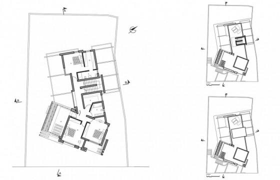 Planos de casa de dos pisos - Segunda planta