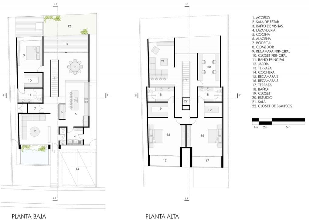 Planos de casa dos pisos de hormig n for Planos para construccion de casas