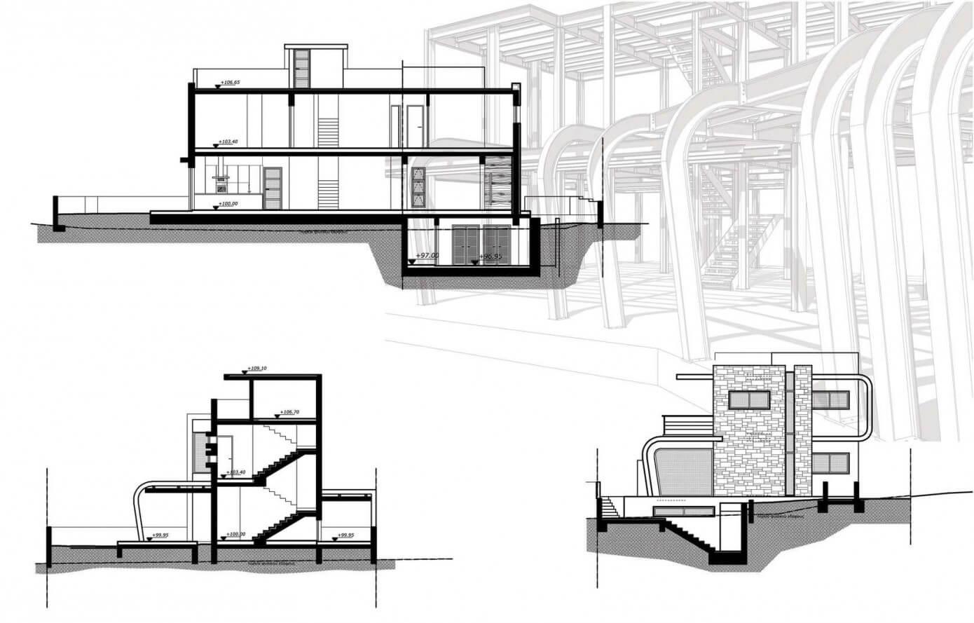 Dise o de casa moderna de dos plantas for Planos de casas de 2 plantas