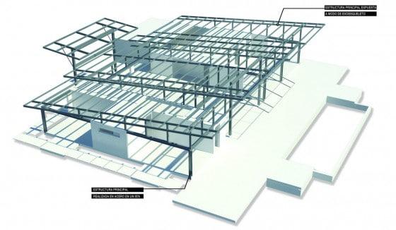 Sistema estructural de techo casa de un piso