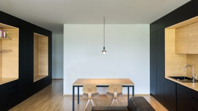 Photo of Planos de departamento pequeño de dos dormitorios, aprende a generar mas espacios útiles usando estanterías