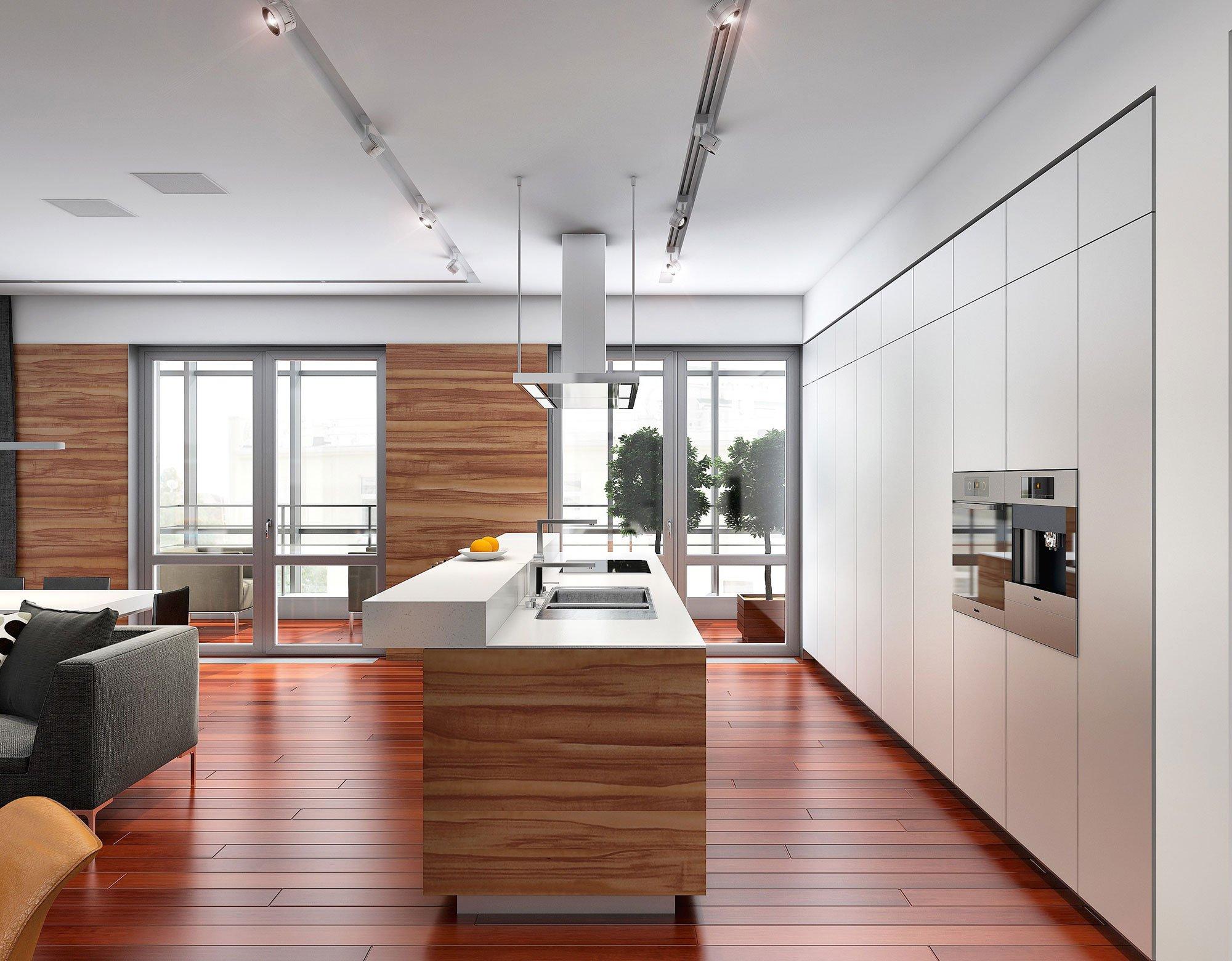 Plano de departamento de tres dormitorios - Cocinas de isla modernas ...