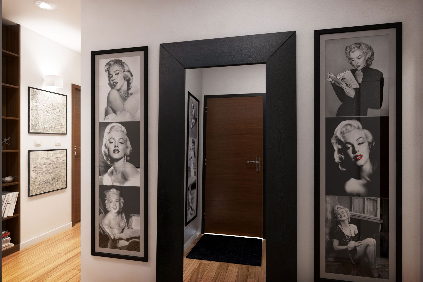 Dise o departamento peque o 62 m planos construye hogar for Decoracion piso vintage