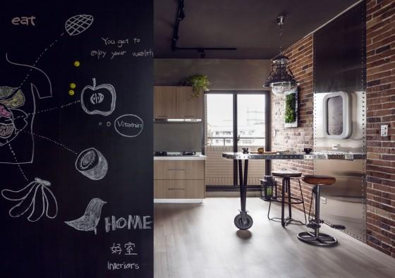Decoración de interiores de cocina estilo industrial