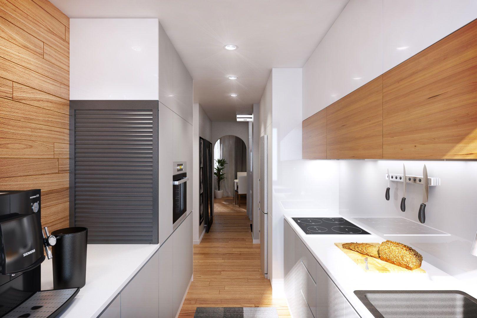 Dise o departamento peque o 62 m planos construye hogar for Muebles de cocina para departamentos