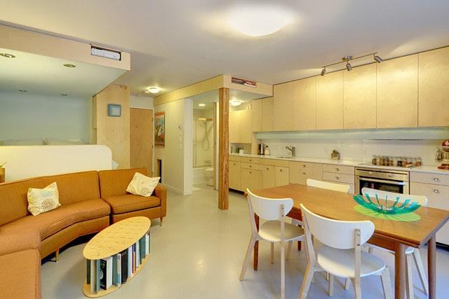 Dise o de departamento de un dormitorio for Diseno de interiores departamento pequeno