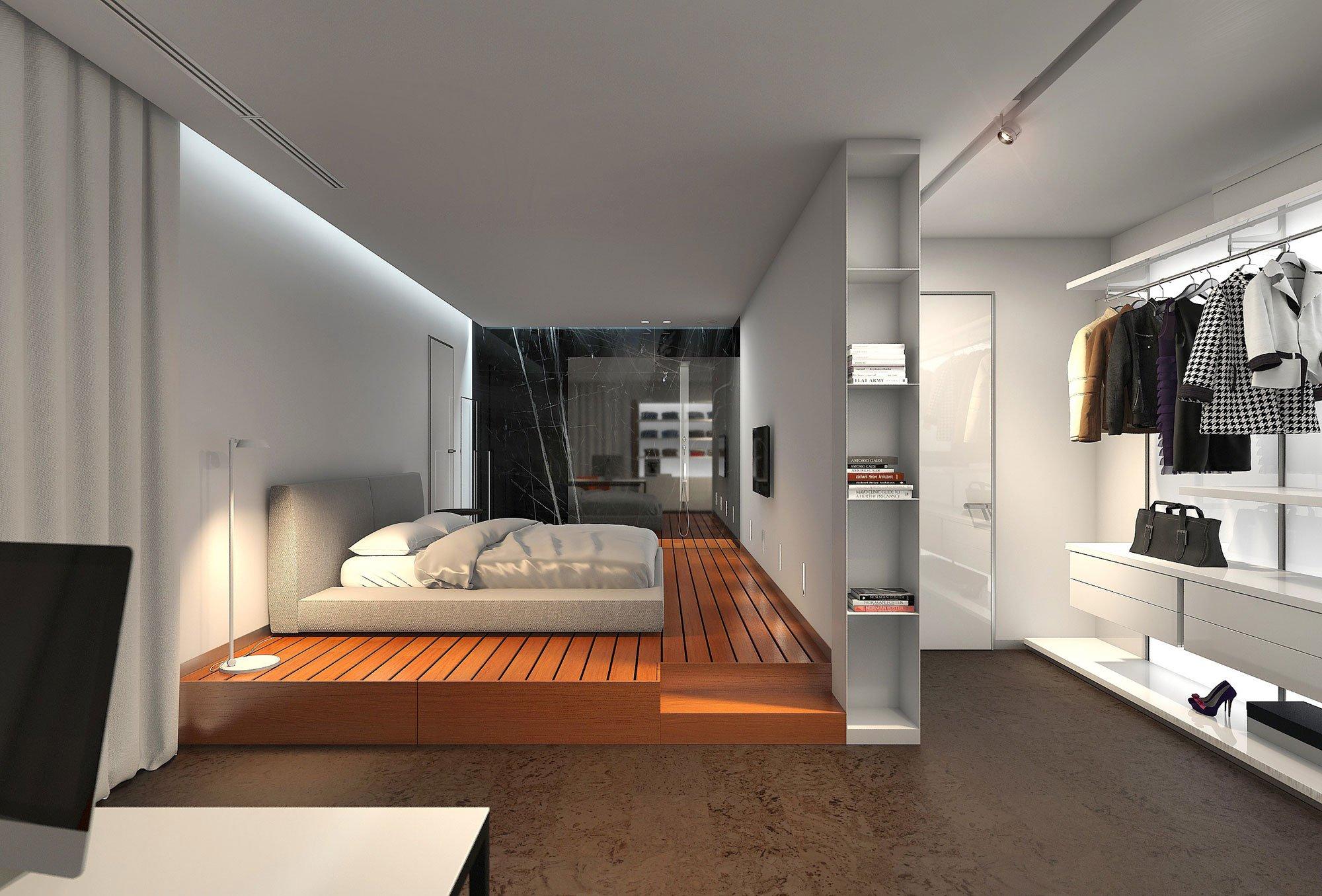 Plano de departamento de tres dormitorios for Diseno de interiores recamara principal