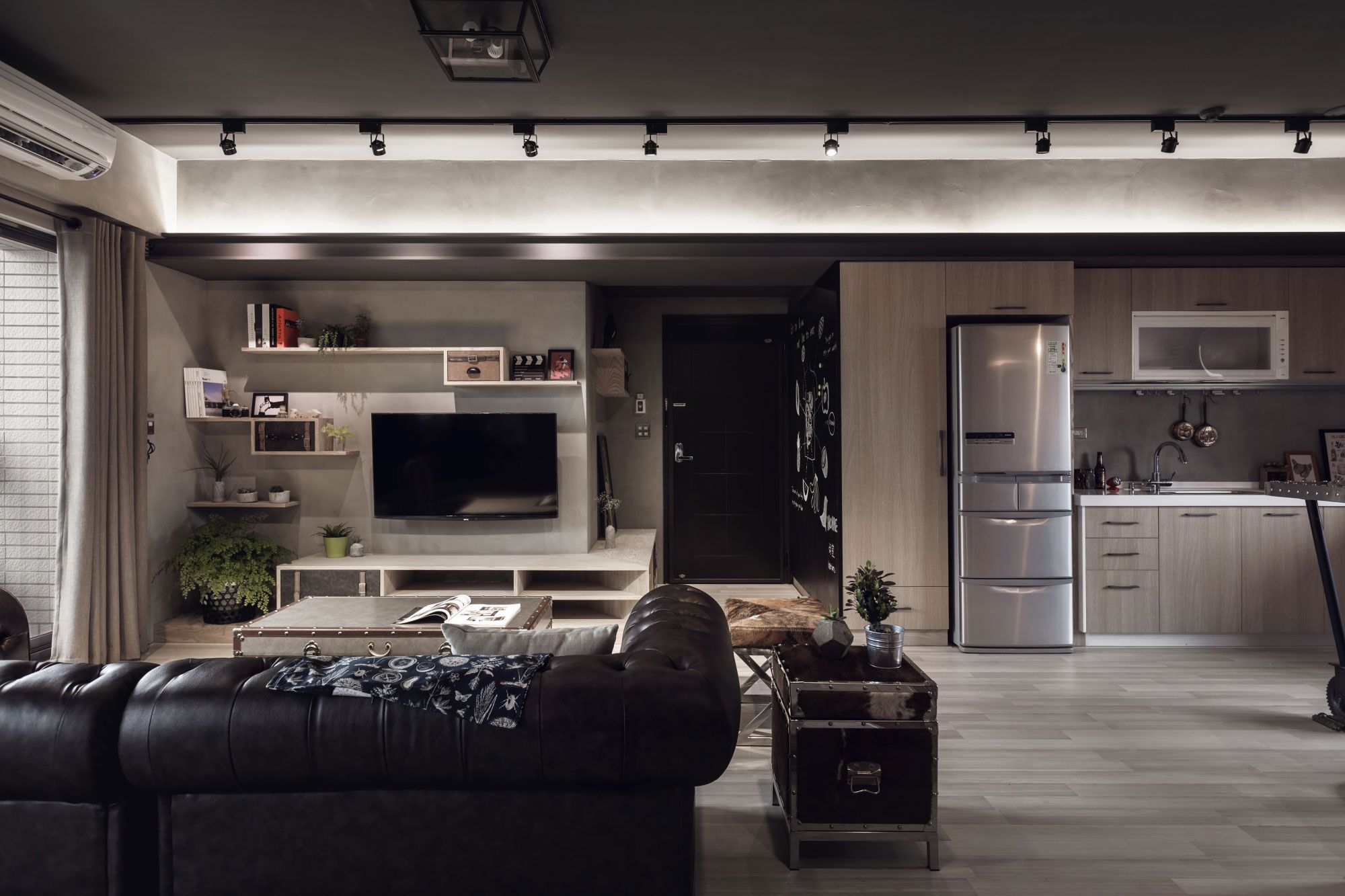 Dise o departamento dos dormitorios planos construye hogar for Diseno de paredes para salas