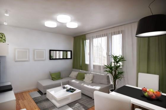 Diseño de sala de departamento pequeño 002