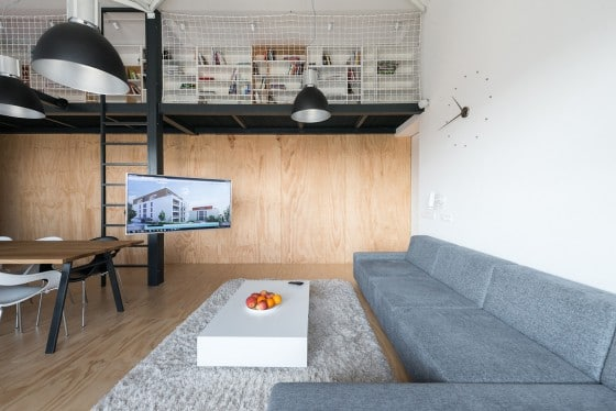 Diseño de sala de loft casual