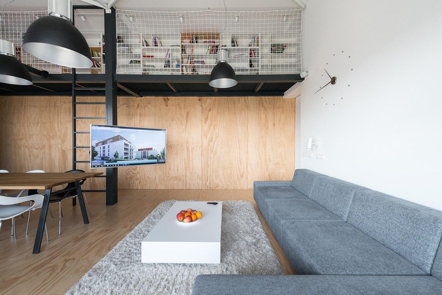 Dise o de departamento loft con plano construye hogar for 1 loft