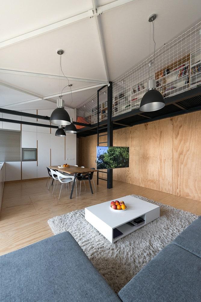 Dise o de departamento loft con plano construye hogar for Interior departamento