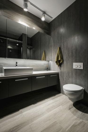 Diseño de toilette flotante color blanco