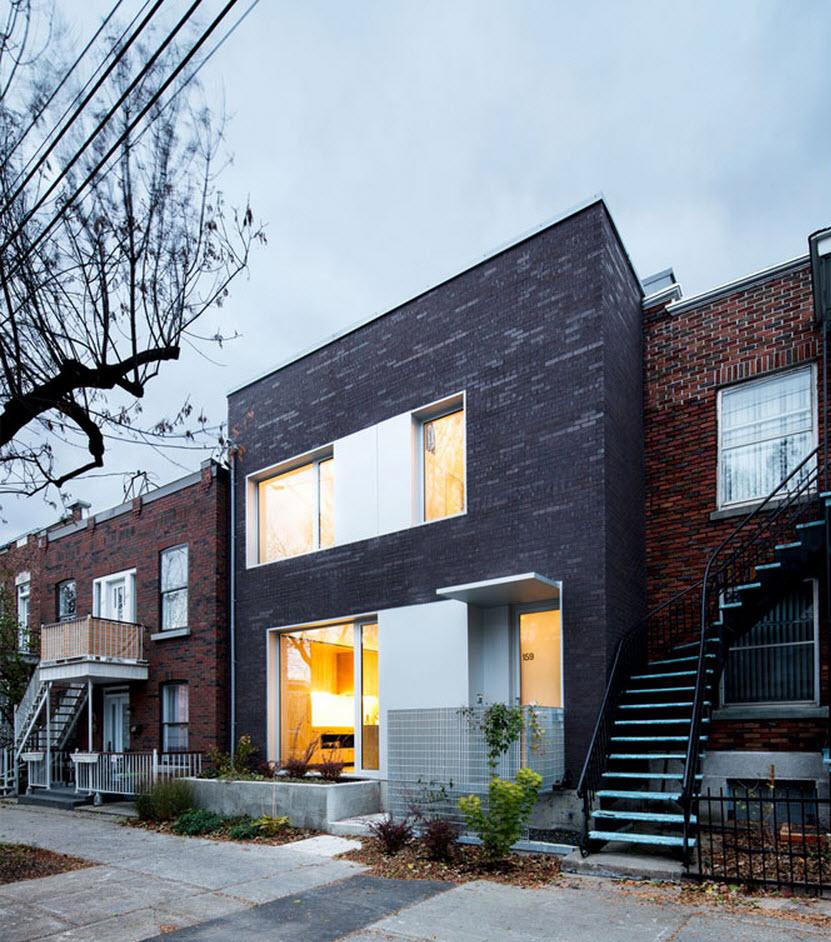 Planos de casa de dos pisos tres dormitorios construye for Frente casa moderna