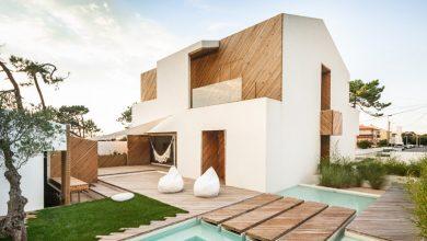 Photo of Planos de casa de dos pisos y tres dormitorios, interesante propuesta con el uso de la madera en una estructura moderna