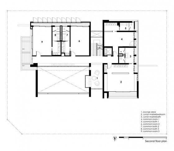 Planos de casa tres pisos - Segunda planta