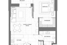Photo of Plano de departamento pequeño de un dormitorio, descubre una buena solución para distribuir ambientes en espacios reducidos