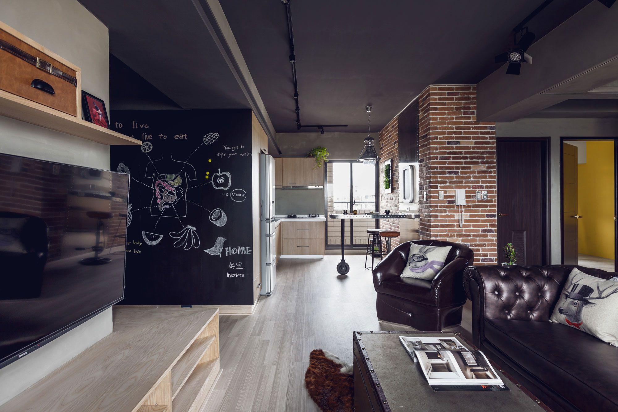 Dise o departamento dos dormitorios planos construye hogar for Studio decoracion