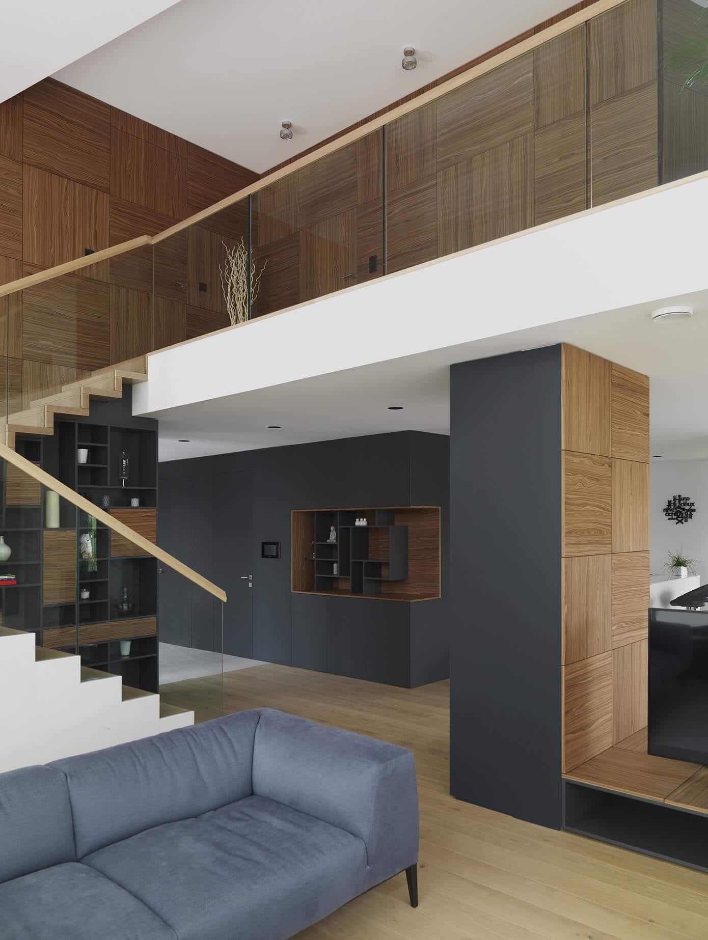 Planos de casa de dos plantas moderna for Interior de la casa de madera moderna