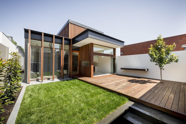 Planos de casa moderna de un piso construye hogar for Casa moderna ladrillo