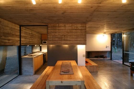 Diseño de comedor cocina de casa de campo