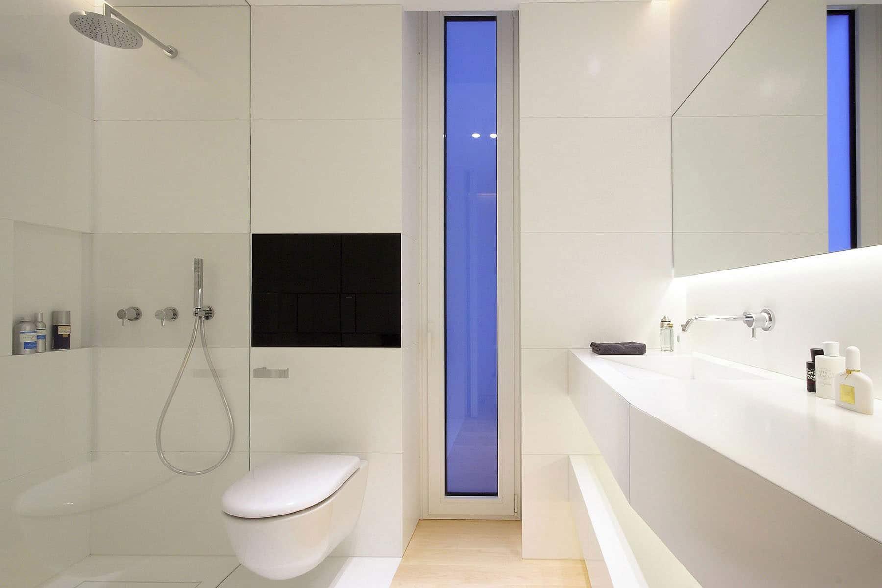 plano departamento peque o dos dormitorios On banos modernos para departamentos