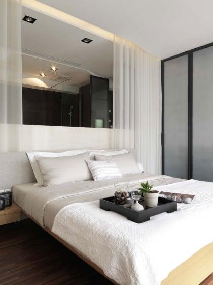 Diseño de dormitorio de departamento pequeño