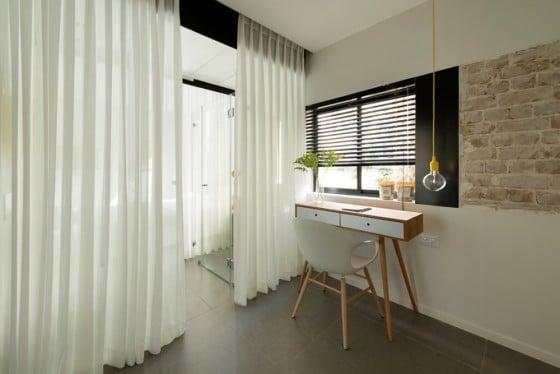Diseño de escritorio de departamento pequeño
