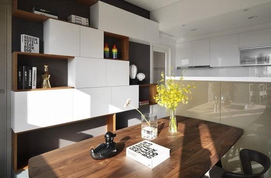 Diseño de estantería moderna de departamento