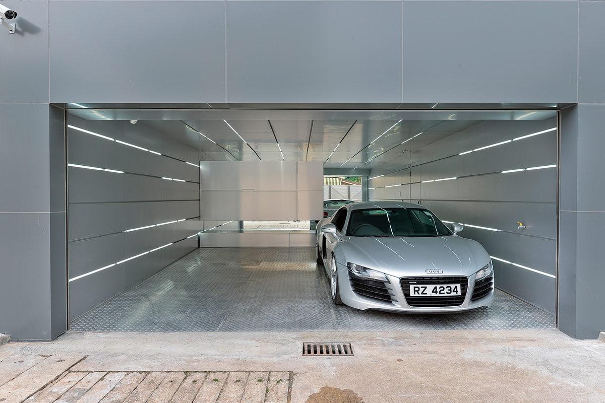 Dise o de casa moderna dos pisos for Garaje de ideas