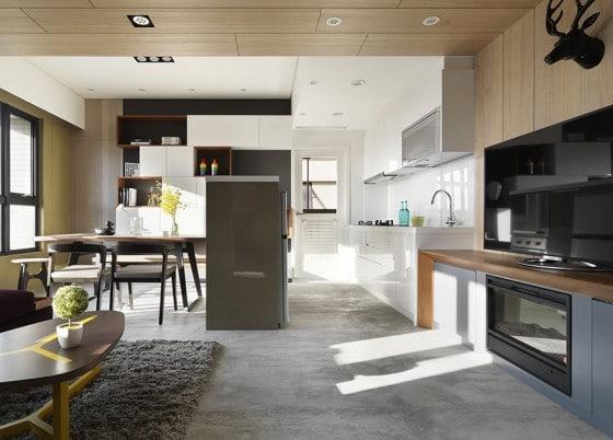 Departamentos peque os 55 metros cuadrados construye hogar for Diseno de interiores para departamentos pequenos