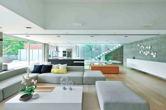 Diseño de interiores de sala moderna