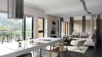 Photo of Planos del departamento de un dormitorio, diseño de interiores con cerramiento virtual para ampliar el pequeño espacio
