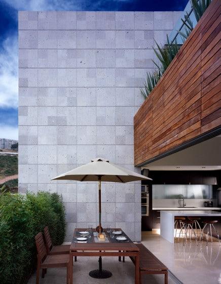 Diseño de terraza abierta