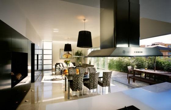 Diseño de zona social de casa moderna