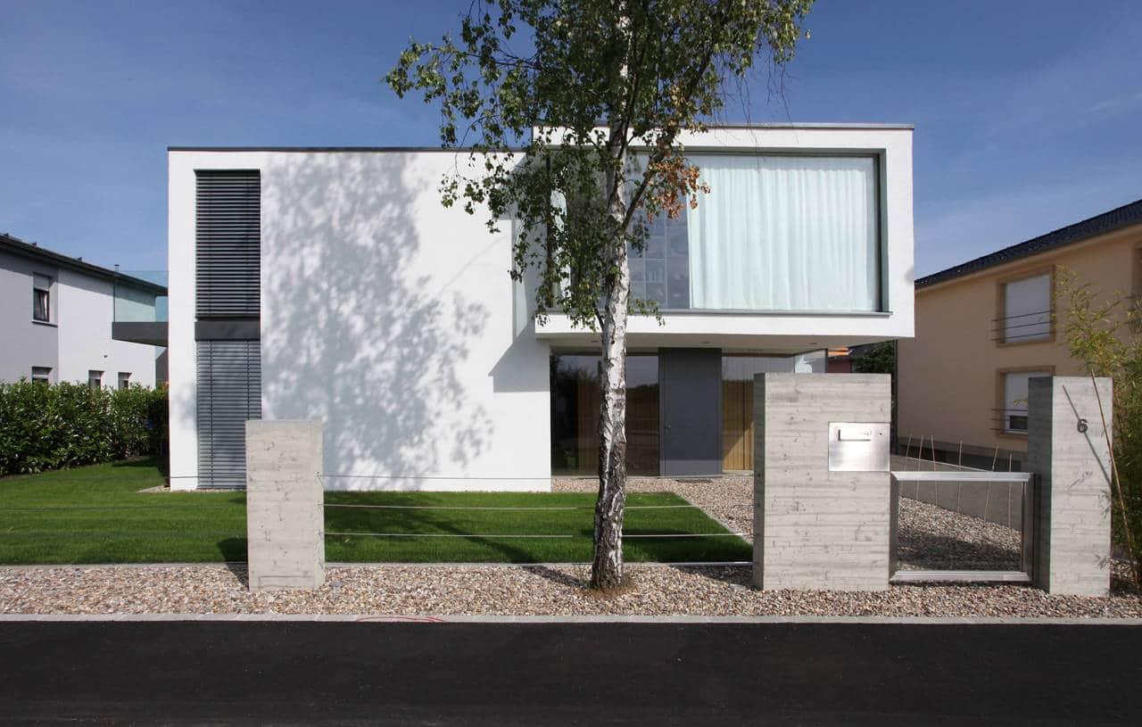 Dise o de casa moderna de dos pisos Fachadas para casas de dos plantas
