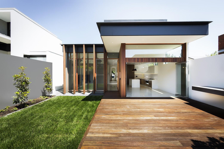 Planos de casa moderna de un piso construye hogar for Casa moderna blanca