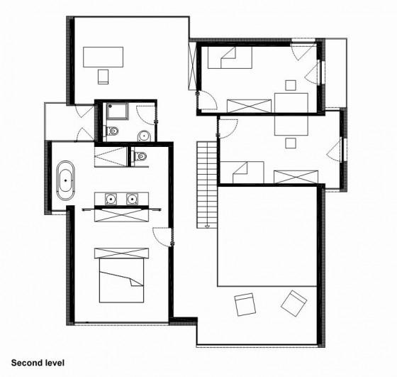 Plano de casa de dos pisos - Segunda planta