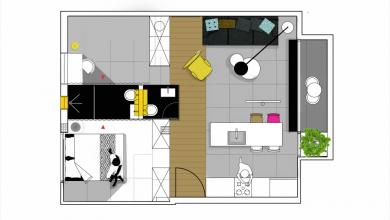Photo of Departamentos pequeños de 55 metros cuadrados, descubre opciones para distribución y decoración de ambientes