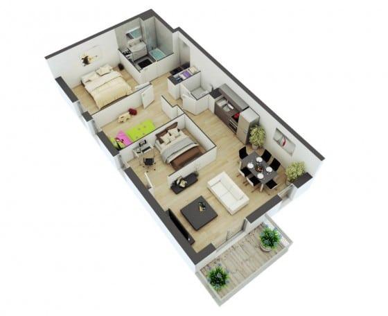 planos de casas de 9 x 17