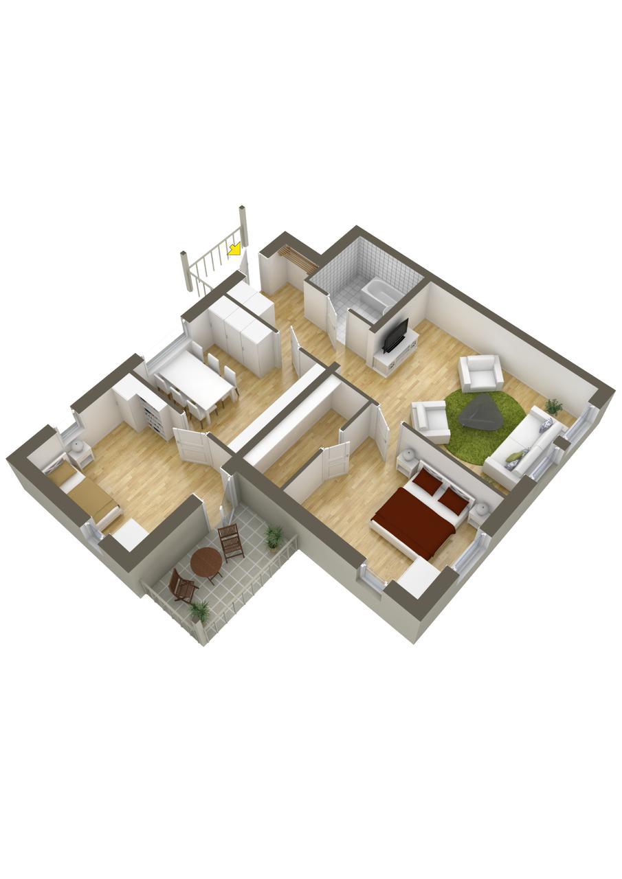planos de casas modernas de dos recamaras