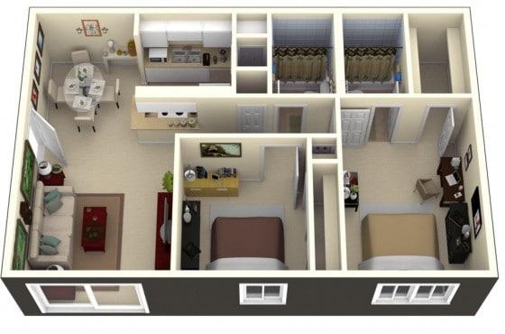 Sencilla decoración apartamento pequeño