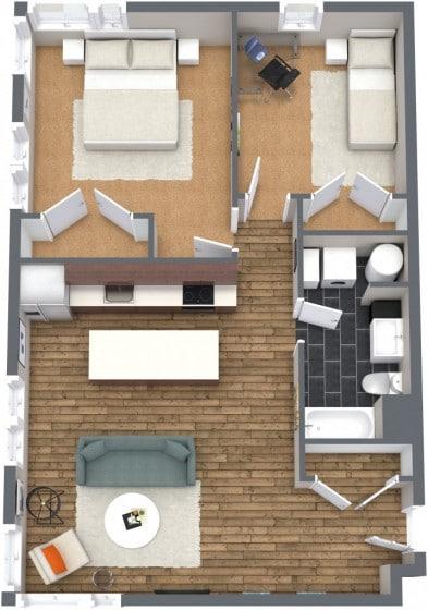 Departamento pequeño dos habitaciones