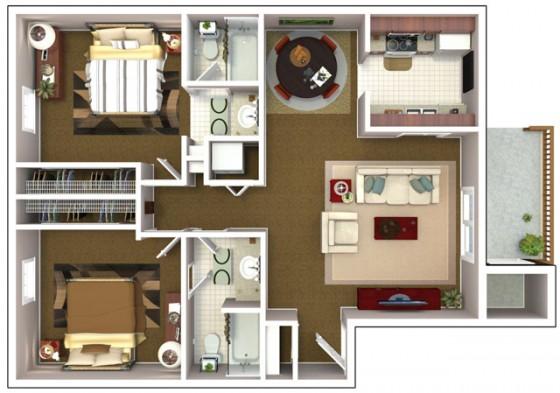Casa pequeña 2 habitaciones