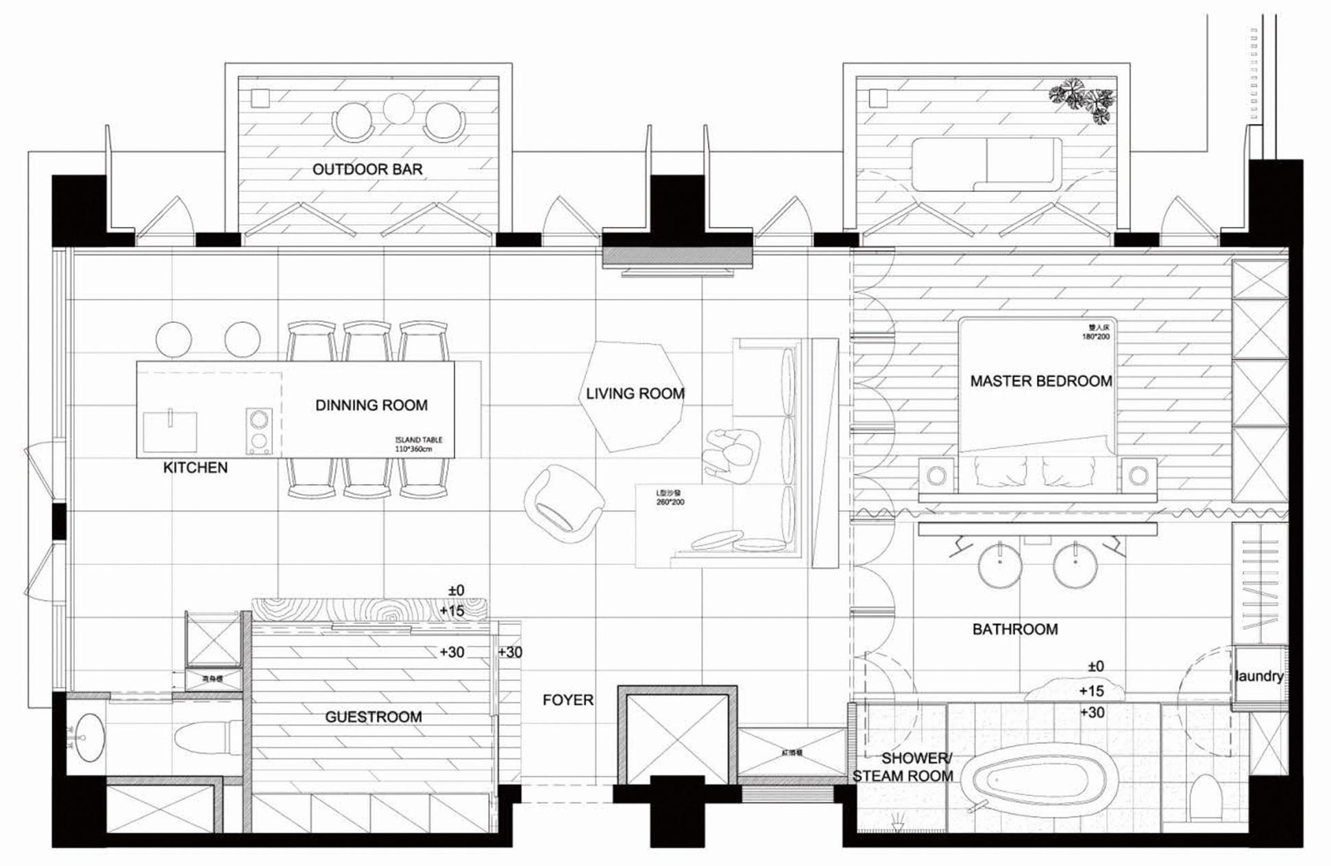 Planos de departamento de un dormitorio construye hogar for Plano departamento 2 dormitorios