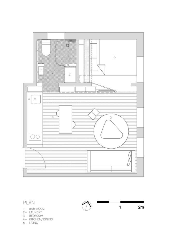 Pr ctico departamento de 27 metros cuadrados construye hogar for Dormitorio 6 metros cuadrados