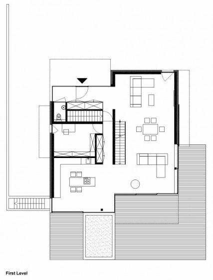 Planos de casa de dos pisos - Primera Planta