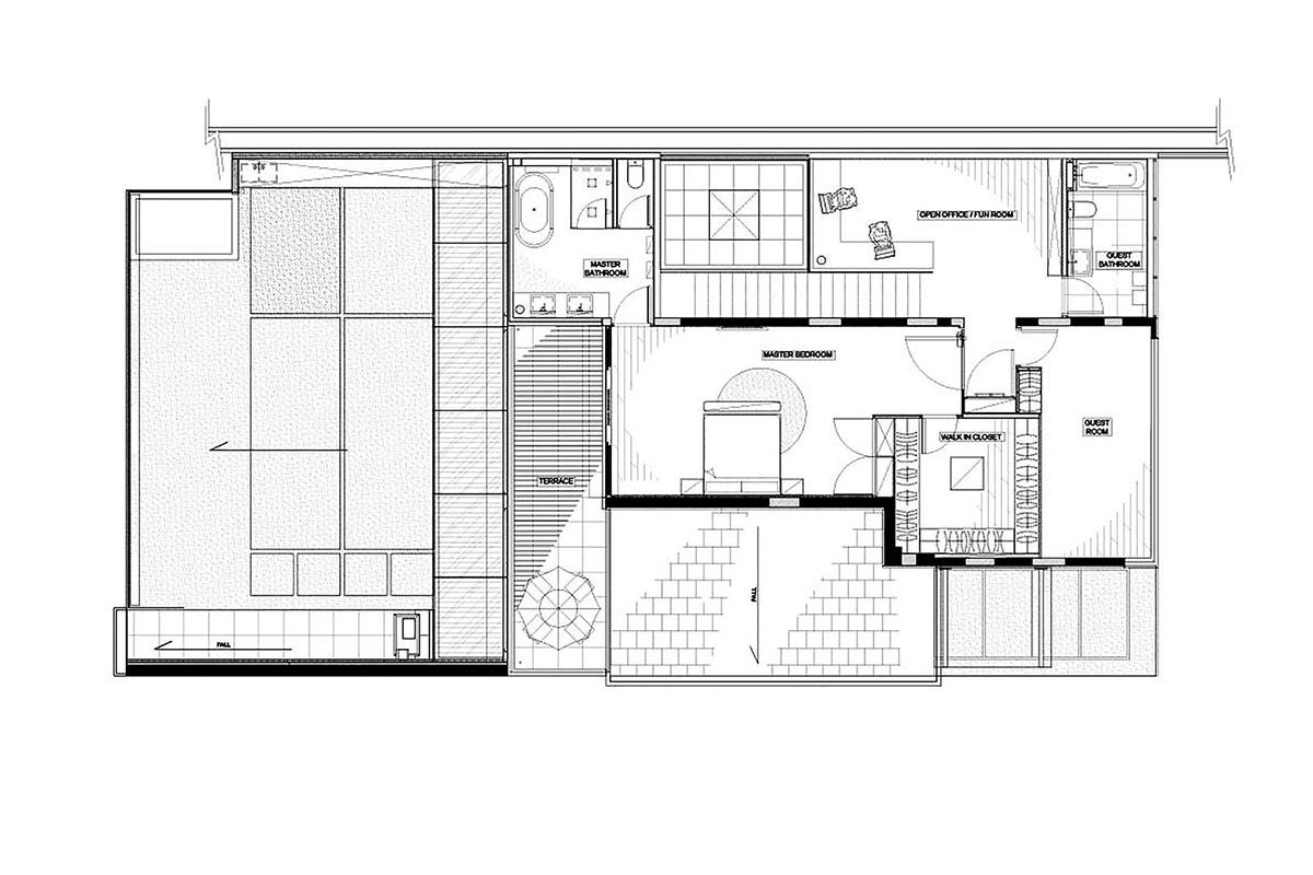 Dise o de casa moderna dos pisos for Planos de casas de 2 pisos