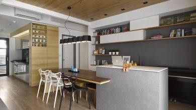Photo of Plano y diseño de interiores de moderno departamento de tres dormitorios